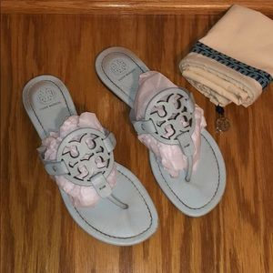 Light blue EUC Tory Burch Miller Sandals ✨